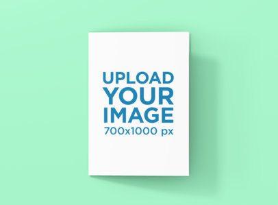 A5 Bifold Brochure Mockup Featuring a Plain Color Backdrop 1372-el