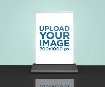 Table Tent Mockup Placed Against a Flat Surface 1366-el