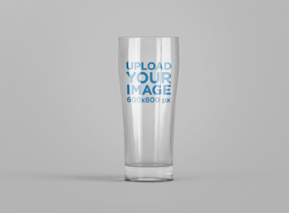 Mockup of a Beer Glass with Customizable Background 1445-el