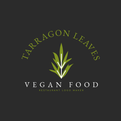 Vegan Food Restaurant Logo Maker Featuring a Plant Graphic 1258f-2660