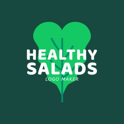 Restaurant Logo Template for a Healthy Salads Place 1234f-2660
