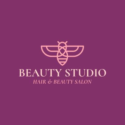 Beauty Salon Logo Design Maker with a Bee Clipart 1137h-325-el