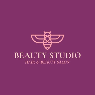 Beauty Salon Logo Design Maker with a Bee Clipart 1137h-325-el