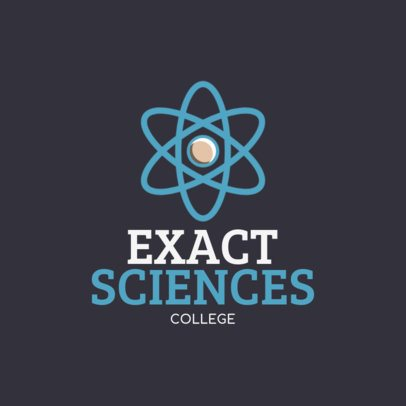 Education Logo Design Maker with a Science Themed Icon 234-el