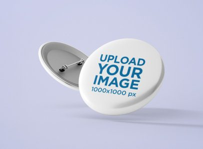 Two Sides View of a Button Mockup 1164-el