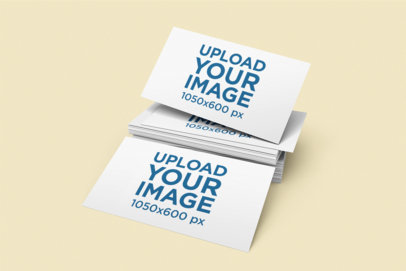 Mockup of Several Business Cards 1605-el