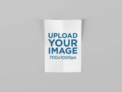 Mockup Featuring a Folded A4 Flyer Against a Solid Color Background 1585-el
