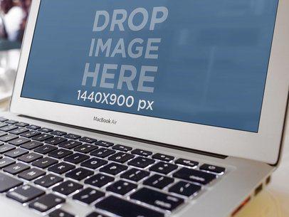 MacBook Air Close Up Shot Office