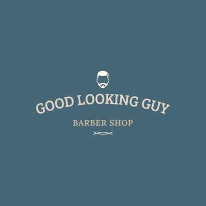Barber Shop Logo Maker with a Beaded Man Icon 1119i-282-el