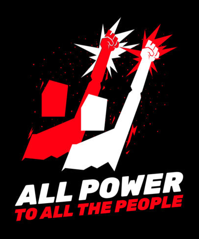 T-Shirt Design Maker for a Social Movement Featuring Protesting People Clipart 2040e
