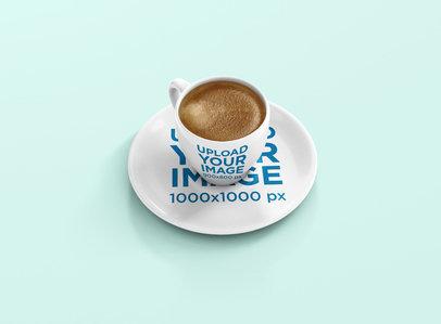 Mockup of an Espresso Cup Full of Coffee 1455-el