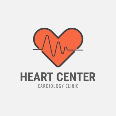 Medical Logo Maker for a Cardiologist 257a-el