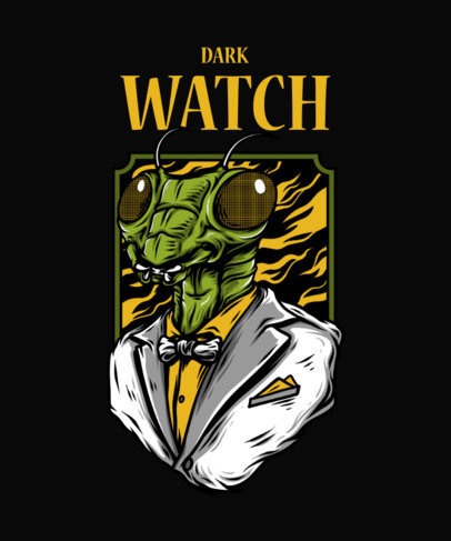 T-Shirt Design Maker Featuring a Street Art-Style Mantis Illustration 33h-el