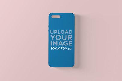 Phone Case Mockup Against a Plain Surface 1397-el
