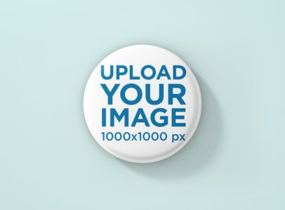 Button Mockup Featuring a Plain Color Backdrop 1168-el
