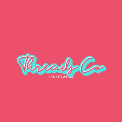 Online Logo Maker with a Handwriting Font for Streetwear Brands 2751d