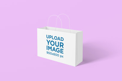 Mockup of a Gift Bag Placed on a Solid Surface 1475-el