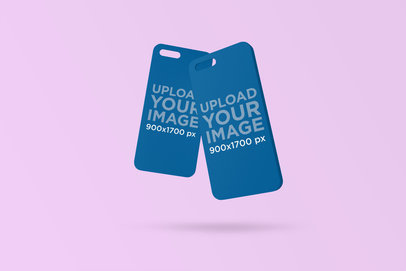 Mockup of Two Floating iPhone Cases 1400-el