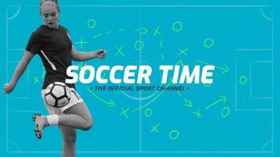 Sports YouTube Banner Maker for a Soccer Fan Channel 1074f 2034-el