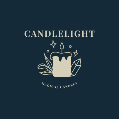 Mysterious Logo Maker with a Candle Clipart 2724c