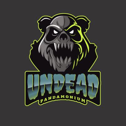 Gaming Logo Maker Featuring an Undead Panda 2755a