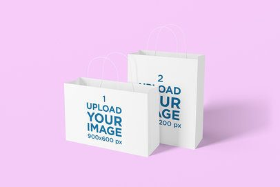 Mockup of Two Gift Bags Placed Together 1474-el