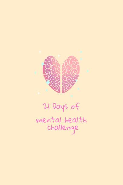 Wellness Pinterest Pin Design Template for a Mental Health Challenge 2025b