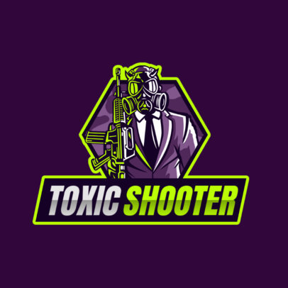 Gaming Logo Creator Featuring a Man in a Suit Wearing a Toxic Mask 2754i