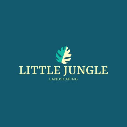 Minimal Landscaping Logo Generator Featuring a Leaf Clipart 1422i 243-el