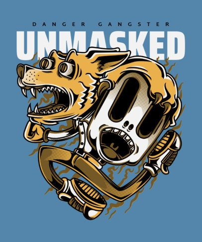 Illustrated T-Shirt Design Generator Featuring a Dancing Dog 22j-el