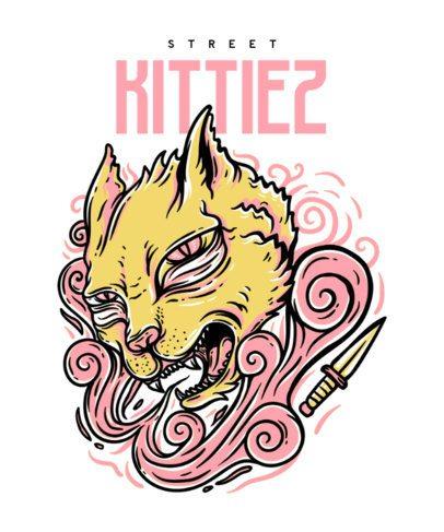 Animal T-Shirt Design Generator Featuring a Kitten Illustration 22g-el