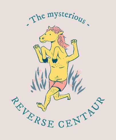 Fantasy T-Shirt Design Maker with a Funny Centaur Graphic 2017f