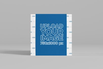 Mockup of a Square Box Placed Against a Customizable Background 1588-el