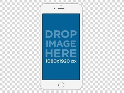 2852 instant mockup generator placeit frontal mockup of a white iphone 6 plus over a transparent background a11471 voltagebd Image collections