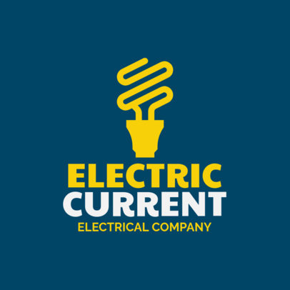 Electrician Logo Maker with a Lightbulb Graphic 1183h 239-el