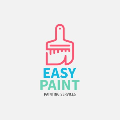 Colorful Logo Maker for a Painting Services Company 1431j-238-el