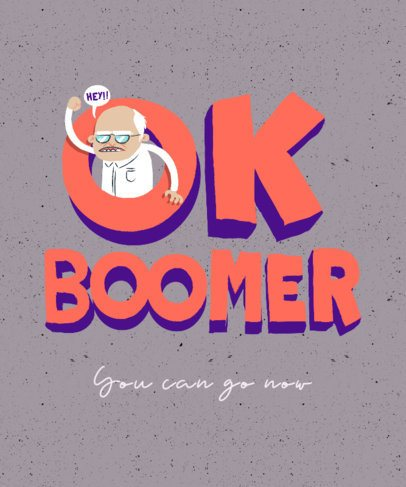 Funny T-Shirt Design Template with an OK Boomer Graphic 2042c