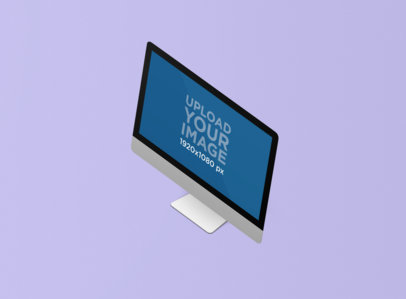 Minimal Render Mockup of an iMac Against a Plain Background 1277-el