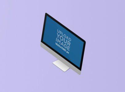 Minimal Render Mockup of an iMac Against a Plain Background 1277-el