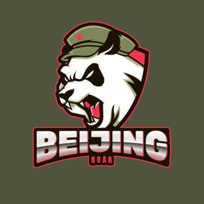 Gaming Logo Maker Featuring an Aggressive Panda Graphic 2755m