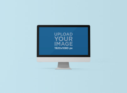 Rendered iMac Mockup with a Customizable Background 1282-el