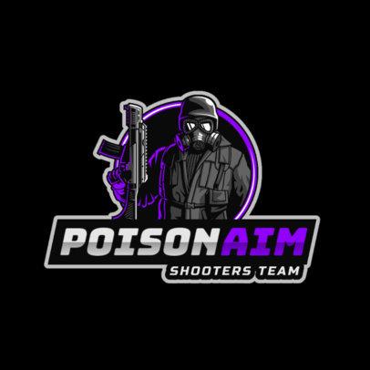 Gaming Logo Generator of a Masked Professional Sniper 2754j