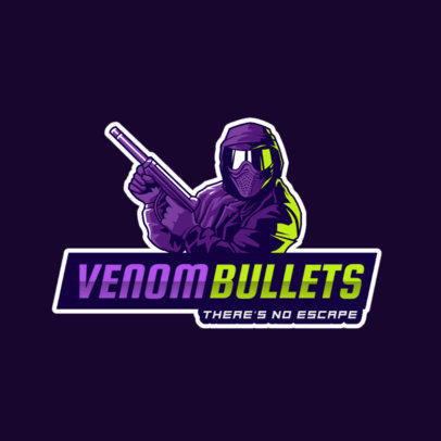 Illustrated Logo Generator for Gamers Featuring a Special Forces Soldier 2754n