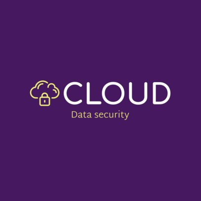 Logo Maker for a Cyber Security Company with a Cloud Icon 1789l-289-el