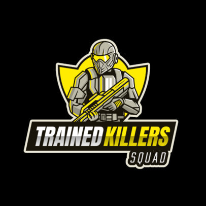 Gaming Logo Template Featuring an Elite Soldier Illustration 2754q