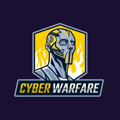 Gaming Logo Generator Featuring a Character Wearing a Futuristic Mask 2754r