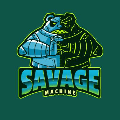 Gaming Logo Template with a Savage Panda Robot 2755v