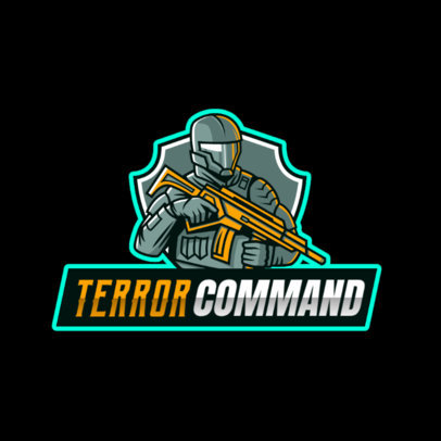 Gaming Logo Maker Featuring a Tactical Shooter Illustration 2754t