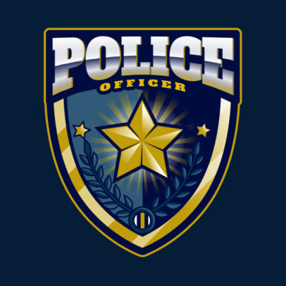 Gaming Logo Maker Featuring a Police Badge Graphic 2770