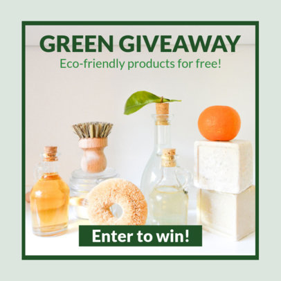 Banner Maker for a Giveaway of Eco-Friendly Products 16644l-2032